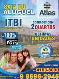 Atlas Ville One, lindos sobrados 02 quartos pelo Minha Casa Minha Vida no Valparaíso