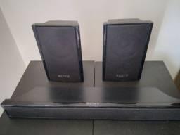 3 caixas de som  Sony 120w para som ambiente, home theater