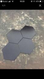 Piso Hexagonal Preto