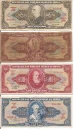 Cédulas Papel Moeda Dinheiro Antigo Originais Usadas