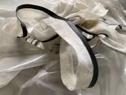 Refilas de plástico com malha, feltro e Bagum