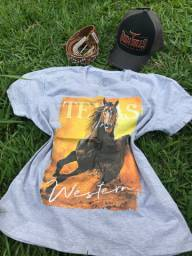 T-shirt country feminina