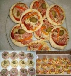 Mini pizzas -Faça sua encomenda