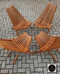 Cadeira Dobravel de Madeira