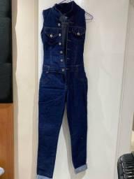 Título do anúncio: Macacão jeans tamanho P