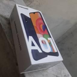 Samsung A01 Azul/32gb novo