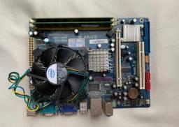Título do anúncio: Placa mae e Processador intel dualcore
