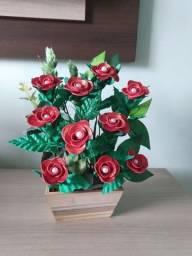 Vaso de flores em e.v.a