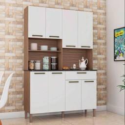 Kit Cozinha 8 Portas Tannat 100% MDF