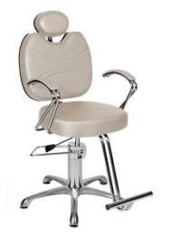 cadeira de salao reclinável + mocho