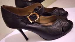 Sapato couro feminino