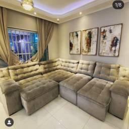 Sofa retrátil reclinável A pronta entrega