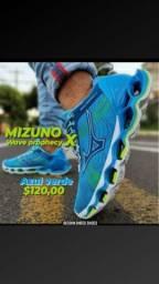 MIZUNO wave prophecy x azul verde