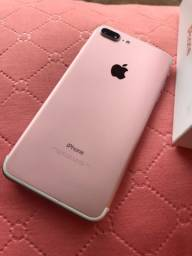 Título do anúncio: iPhone 7 Plus 32GB Rose, bateria nova.