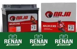 Bateria moto 5 amperes fan titan xre Bros xtz crosser