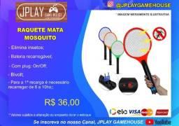 Título do anúncio: Raquete mata mosquito recarregável