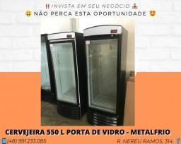 Cervejeira 550 Litros - Porta de Vidro - MetalFrio | Matheus