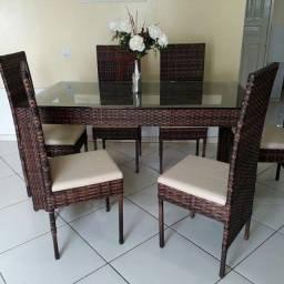 Título do anúncio: Mesa paris, com 06 cadeiras altas!!!
