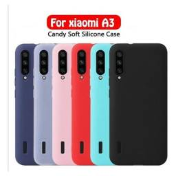 Capa Premium De Silicone Aveludada Por Dentro Xiaomi Mi A3 - MI9 SE - MI 7