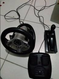 Título do anúncio: Volante Gamer USB     PS2/PS3/PC