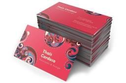 Panfletos, cartões de visita, Imãs de geladeira e Wind Banner