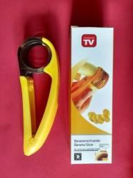Fatiador cortador de banana, salsicha aço inox fitness
