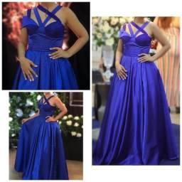 Vestido princesa azul royal