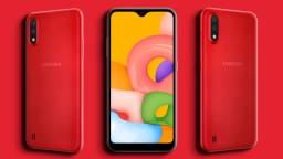Smartphone Samsung Galaxy A01 32GB Vermelho (Novo)