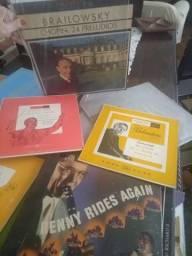 Venda de LPs de música clássica e jazz