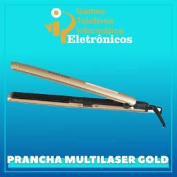 Chapinha Modeladora Multilaser Gold de Cerâmica Ionizada Bivolt com 30W