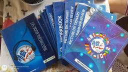 Vendo workbook completo, cursos em livros, de inglês, espanhol