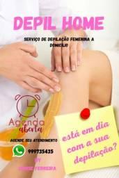 Serviço de depilação femenina e masculina a domicílio