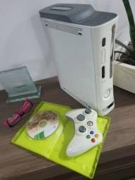Título do anúncio: Xbox 360 fat HD 60gb 1 jogo original 1 controle  100% funcionando