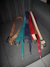 pacote de cintos datelli em couro