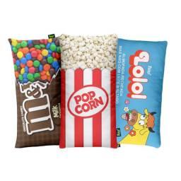 Kit 3 Almofadas Decorativas PopCorn, Lolo e Candy