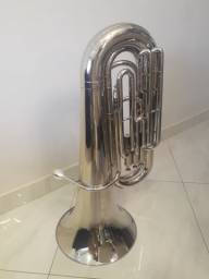 Tuba Weril 3/4 J370 Sib Niquelada Muito conservada