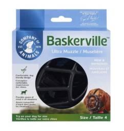 Focinheira Baskerville Preta G - Tamanho 4