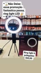 Título do anúncio: Ring light 8 polegadas $60.00