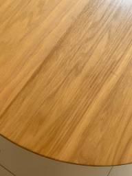 mesa de centro oval - cor marfim (01 pç)