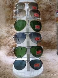 Título do anúncio: Óculos Ray-Ban modelos Aviadores...