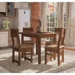 Conjunto de Mesa 4 Cadeiras MDF Dallas - Indekes