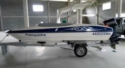 Vendo Lancha de Fibra 17 pés - motor 90 cv - 2003