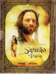 Promoção! Box 5 DVDs Originais Minissérie Bíblica Sansão & Dalila Record 2011