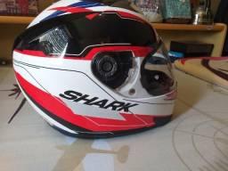 Capacete Shark S700 Lab Wkr Branco-vermelho-preto