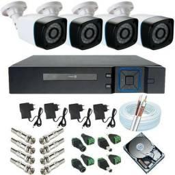 Promoção kit de cftv com 4 câmeras já com instalação inclusa