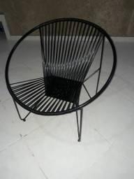 Cadeira de área circular