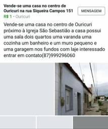 Vendo uma casa na cidade de Ouricuri no centro da cidade