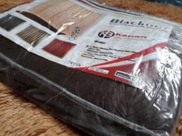 Kit cortina Black out marrom.