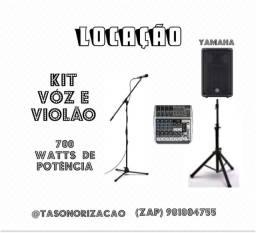 Locação kit voz e violão