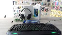 KIT Gamer Completo Mouse Gamer + Mouse Pad + Teclado Gamemax + Headset + Brinde